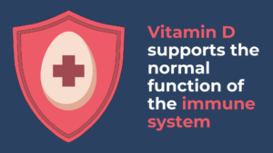 Vitamin D supports the normal function of the immune system
